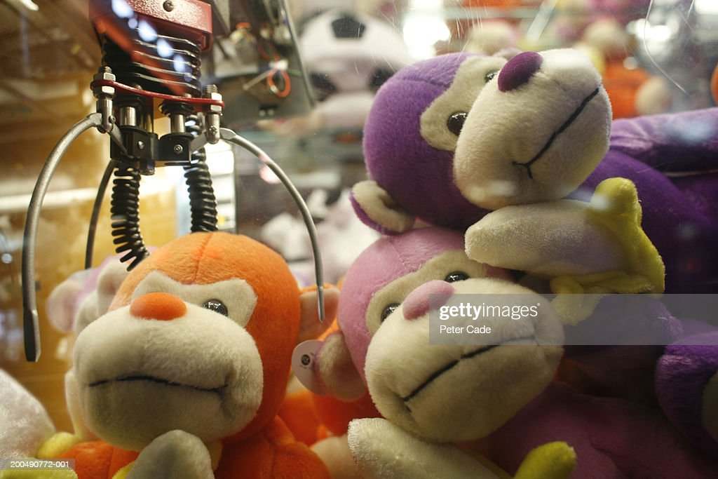 Stuffed toys at arcade game : Stock Photo