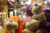 Stuffed toys at arcade game