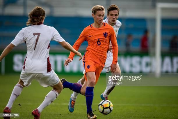 Stuglis Ingars of Jong Letland Frenkie de Jong of Jong Oranje during the EURO U21 2017 qualifying match between Netherlands U21 and Latvia U21 at the...
