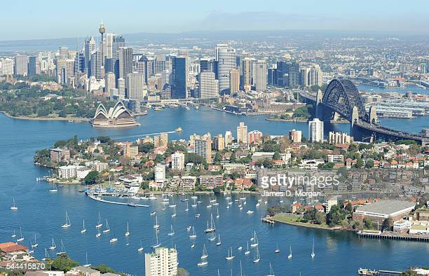 Stunning aerial photos of the city on May 10 2010 in Sydney Australia The harbour sparkles others find the ocean and go into the surf whilst others...