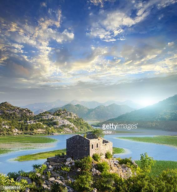 A stunning image Skadar Lake in Montenegro