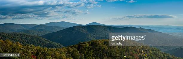 A stunning panorama of Blue Ridge Mountains