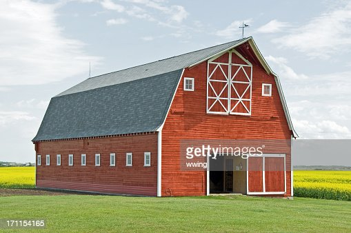 Stunning Red Barn Close-up