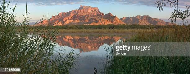 Stunning shot of Arizona Mountain and its reflection