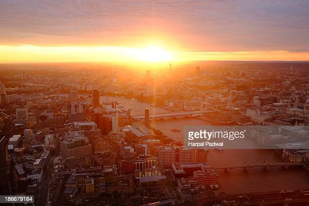 Stunning sunset over the London