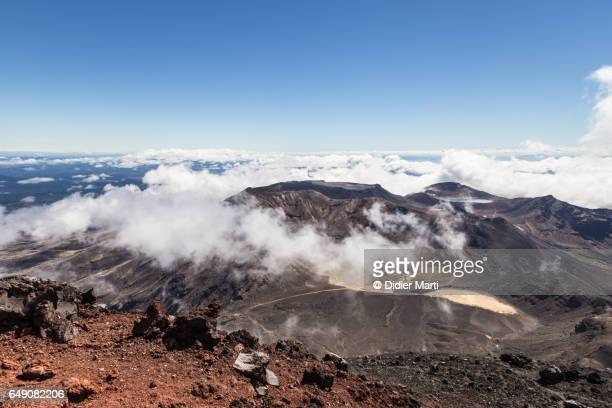 Stunning view of the Tongariro Alpine crossing in New Zealand