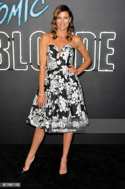Stunt woman Monique Ganderton attends the premiere of Focus Features' 'Atomic Blonde' at The Theatre at Ace Hotel on July 24 2017 in Los Angeles...