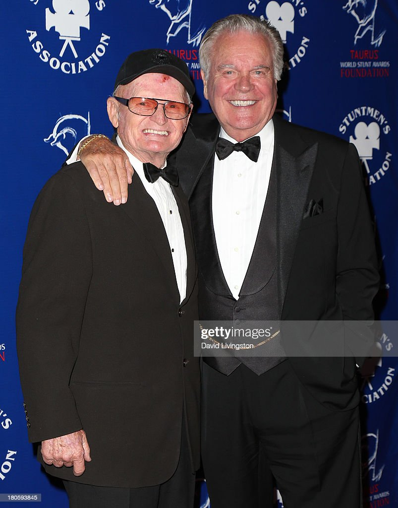 Stuntman Bob Yerkes (L) and actor Robert Wagner attend the Stuntmen's Association of Motion Pictures 52nd Annual Awards Dinner to benefit the Taurus World Stunt Awards Foundation at the Hilton Universal City on September 14, 2013 in Universal City, California.