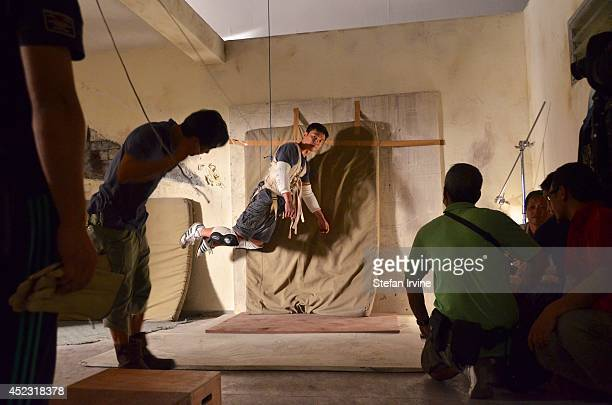 A stuntman preparing a jump on the Hong Kong film set of Rigor Mortis a horror film about vampires The film is Juno Mak's directorial debut and is...