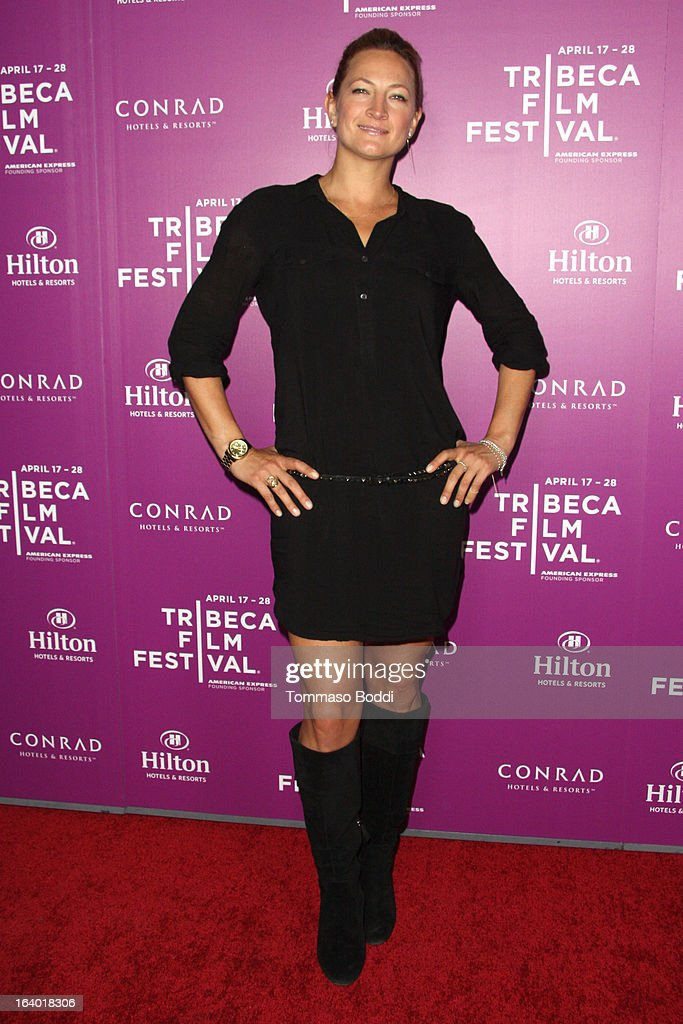 Stuntwoman and actress Zoe Bell attends the 5th annual Tribeca Film Festival 2013 LA reception held at The Beverly Hilton Hotel on March 18, 2013 in Beverly Hills, California.