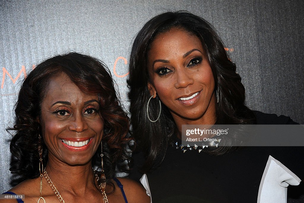 Stuntwoman LaFaye Baker and actress <a gi-track='captionPersonalityLinkClicked' href=/galleries/search?phrase=Holly+Robinson+Peete&family=editorial&specificpeople=213716 ng-click='$event.stopPropagation()'>Holly Robinson Peete</a> arrive for the 6th Annual Diamond In The RAW -Action Icon Awards held at Skirball Cultural Center on November 10, 2013 in Los Angeles, California.