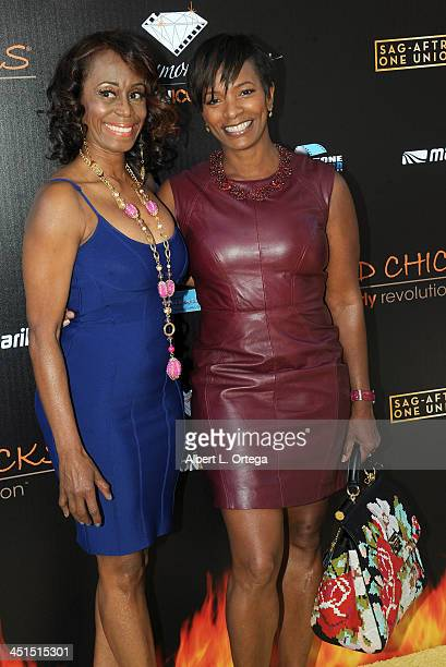 Stuntwoman LaFaye Baker and actress Vanessa Belll Calloway arrive for the 6th Annual Diamond In The RAW Action Icon Awards held at Skirball Cultural...