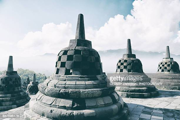 Stupa Against Sky At Borobudur Temple