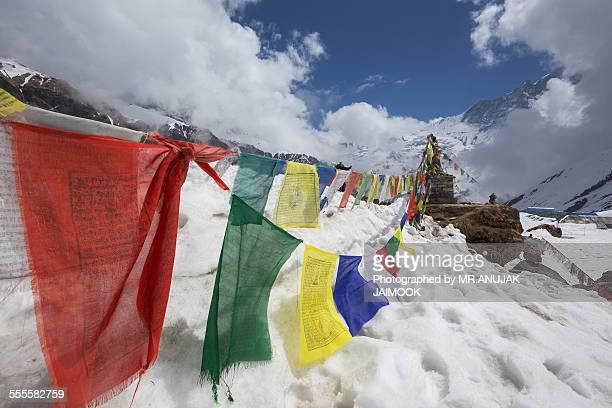 Stupa at Annapurna Base Camp (ABC), Nepal