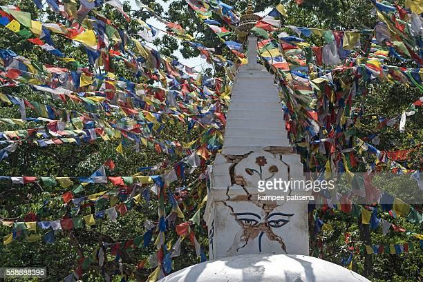 Stupa at Swayambhunath Stupa complex, Kathmandu, N