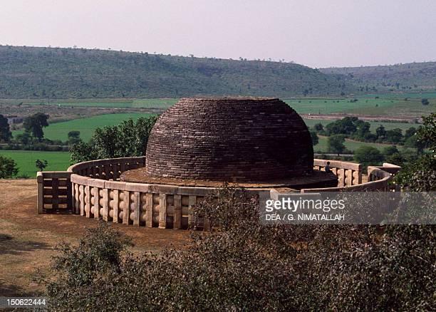 Stupa II in Sanchi India Indian civilization 2nd century BC