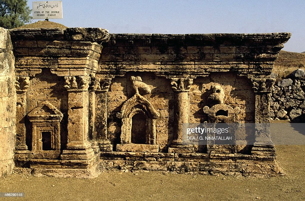 Stupa of Eagle with two heads archaeological excavations of Sirkap Taxila Pakistan 2nd century BC