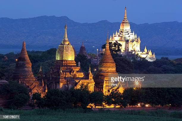 Stupas (Denkmälern). Außerdem Payas, Pagan, Myanmar