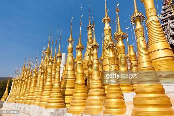 Stupas in Indein, Myanmar (Burma)