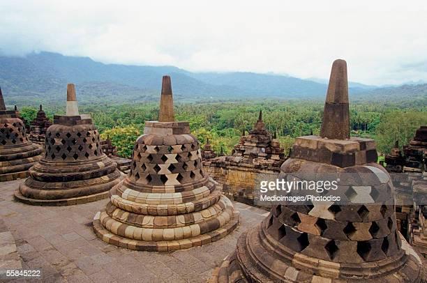 Stupas of Borobudur Temple, Java, Indonesia