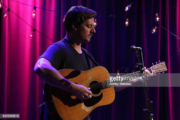 Sturgill Simpson performs during Up Close and Personal John Prine Sturgill Simpson at The GRAMMY Museum on June 21 2016 in Los Angeles California