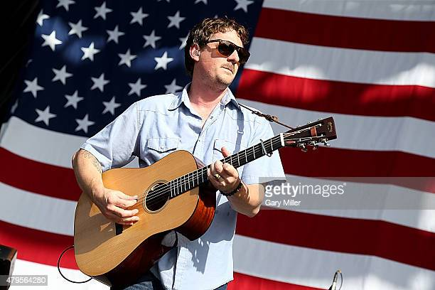 Sturgill Simpson performs in concert during Willie Nelson's 42nd Annual 4th of July Picnic at Austin360 Amphitheater on July 4 2015 in Austin Texas