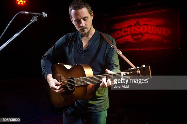 Sturgill Simpson performs on stage at Rocksound on January 21 2016 in Barcelona Spain