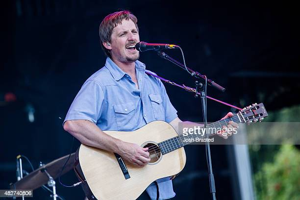 Sturgill Simpson performs on stage at the 2015 Lollapalooza music festival at Grant Park on August 1 2015 in Chicago Illinois