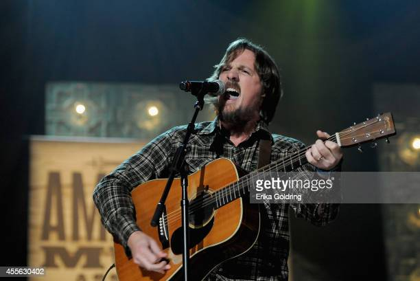 Sturgill Simpson performs onstage at the 13th annual Americana Music Association Honors and Awards Show at the Ryman Auditorium on September 17 2014...
