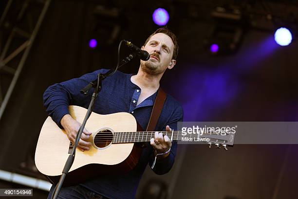 Sturgill Simpson performs onstage during day two of the Boston Calling Music Festival at Boston City Hall Plaza on September 26 2015 in Boston...
