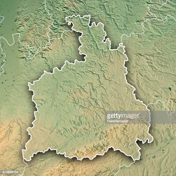 Stuttgart, die Administrative Region Baden-Württemberg 3D-Render topographische Karte Grenze