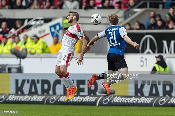Stuttgart Deutschland 2 Bundesliga 12 Spieltag VfB Stuttgart DSC Arminia Bielefeld Emiliano Adriano Insua gegen Andreas Voglsammer
