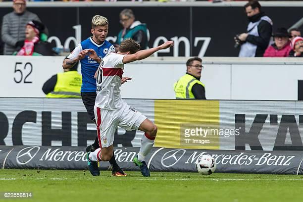 Stuttgart Deutschland 2 Bundesliga 12 Spieltag VfB Stuttgart DSC Arminia Bielefeld Sebastian Schuppan gegen Florian Klein