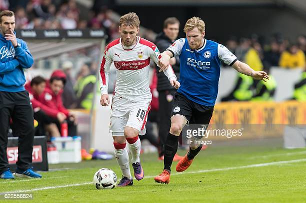 Stuttgart Deutschland 2 Bundesliga 12 Spieltag VfB Stuttgart DSC Arminia Bielefeld Alexandru Iulian Maxim gegen Andreas Voglsammer