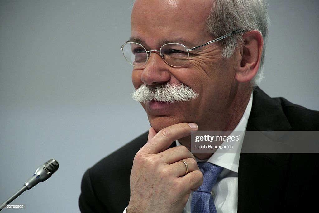GERMANY, Stuttgart, DR Dieter ZETSCHE, Chairman of the Board of Management of Daimler AG, at Daimler's press briefing on annual results.