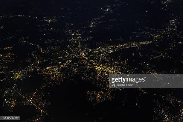 Stuttgart from the Air at Night