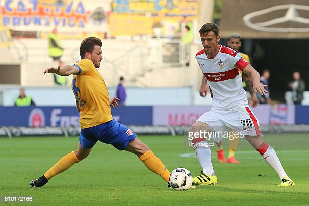 Stuttgart Germany 2BL VfB Stuttgart vs Eintracht Braunschweig Quirin Moll Christian Gentner
