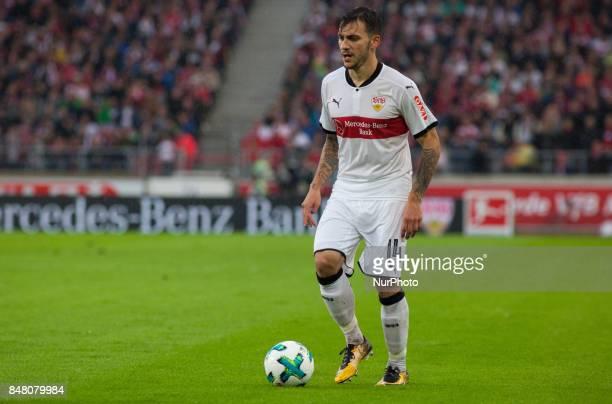 Stuttgarts Anastasios Donis initiates a counter / Bundesliga match VfB Stuttgart vs VfL Wolfsburg September 16 2017