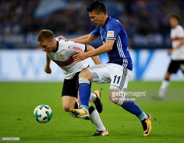 Stuttgart´s Argentinian midfielder Santiago Ascacibar and Schalke's midfielder Yevhen Konoplyanka vie for the ball during the German First division...
