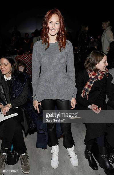 Style and accessories director for US Marie Claire magazine Taylor Tomasi Hill attends the Tome show during MercedesBenz Fashion Week Fall 2014 at...