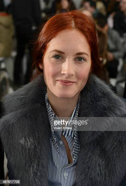 Style and accessories director for US Marie Claire Taylor Tomasi Hill attends Tanya Taylor Front Row MercedesBenz Fashion Week Fall 2014 at Industria...