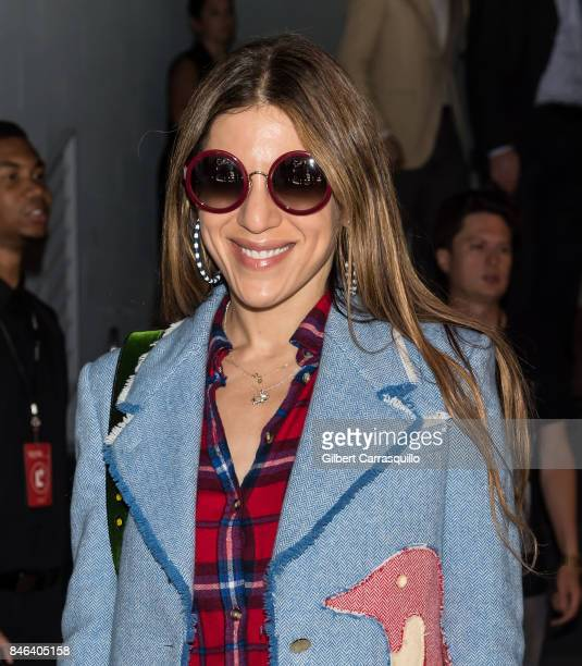 Style Director at NYLON Magazine Dani Stahl is seen arriving at Alice Olivia By Stacey Bendet fashion show during September 2017 New York Fashion...