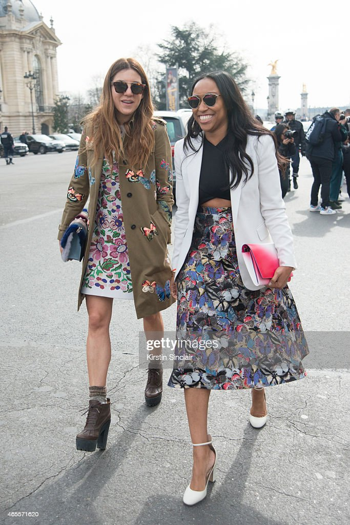Style Director for Nylon magazine Dani Stahl with Fashion Consultant Shiona Turini on day 5 of Paris Collections Women on March 07 2015 in Paris...