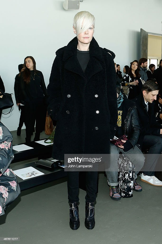Style director Kate Lanphear attends the Tess Giberson show during MercedesBenz Fashion Week Fall 2014 at Pier 59 Studios on February 7 2014 in New...