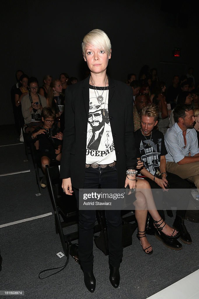 Style Director of Elle USA Kate Lanphear attends the Ruffian Spring 2013 fashion show during MercedesBenz Fashion Week at The Studio Lincoln Center...
