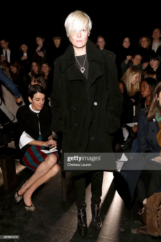 Style director of T Magazine Kate Lanphear attends the Helmut Lang fashion show during MercedesBenz Fashion Week Fall 2014 on February 7 2014 in New...