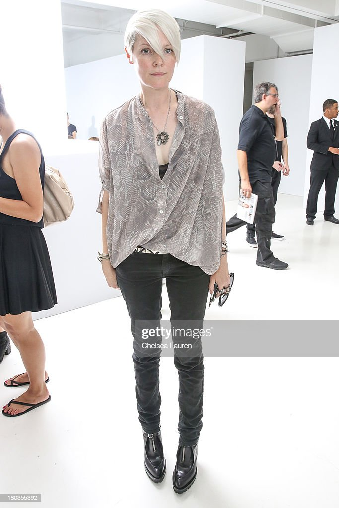 Style director of T Magazine Kate Lanphear attends the Philosophy by Natalie Ratabesi fashion show during MercedesBenz Fashion Week Spring 2014 at...