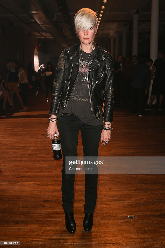 Style director of T Magazine Kate Lanphear attends the Yigal Azrouel fashion show during MercedesBenz Fashion Week Spring 2014 at 82 Mercer on...