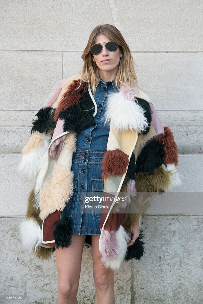 Style editor at Harper's Bazaar Germany Veronika Heilbrunner at the Chloe show on day 6 of Paris Collections Women on March 08 2015 in Paris France