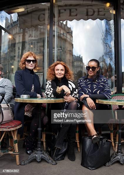 Style Editor Jessica Joffe fashion designer Diane von Furstenberg and DVF Global Brand Ambassador Brittany Hampton are photographed for Madame Figaro...